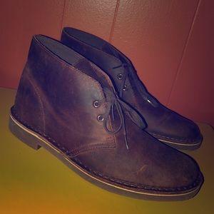 Clark's Brown Leather Chukka Boots